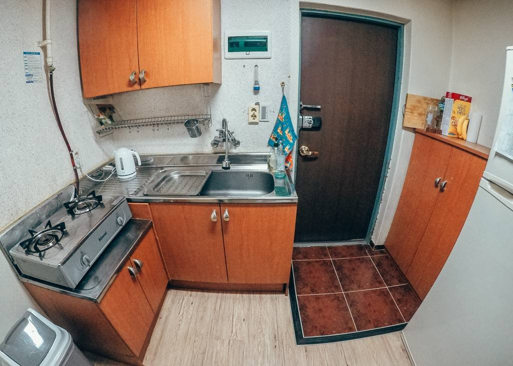 Our Kitchen in our Korean apartment