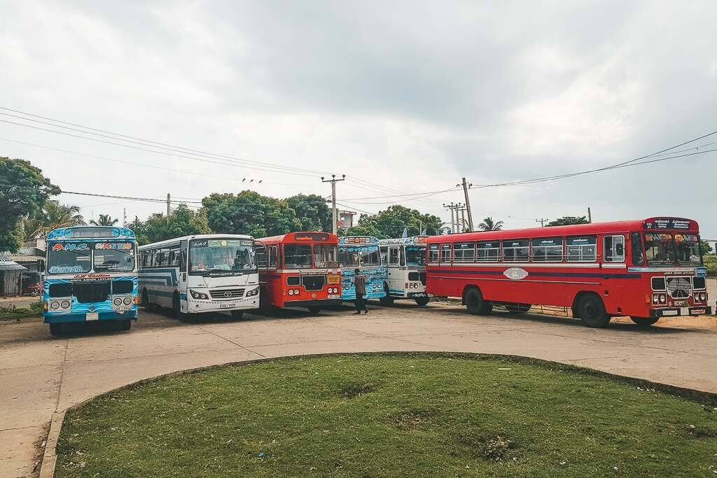 Taking the bus from Colombo to Trincomalee
