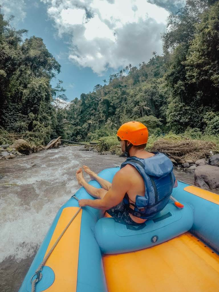 where to go water rafting in Bali